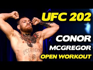 UFC 202: Conor McGregor Works Out, Cusses out Diaz Brothers!