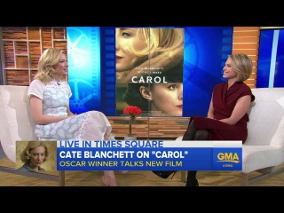 Cate Blanchett Dishes on New Role in 'Carol'