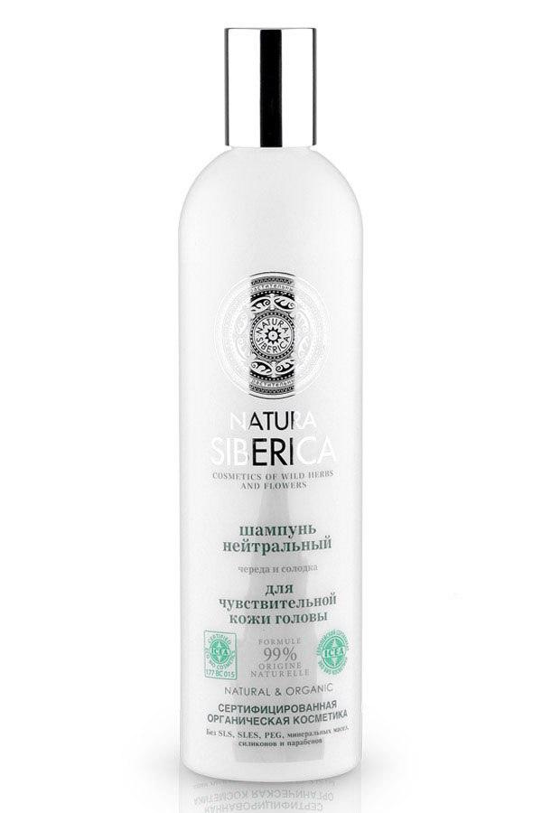 «Нейтральный шампунь для чувствительной кожи головы» от «Natura Siberica». Цена от 200 руб.