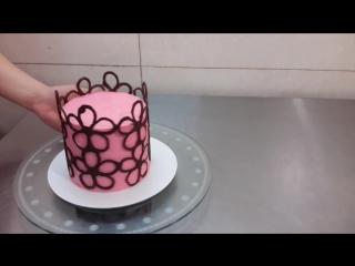 (ТОРТ-РЕЦЕПТ-VK) Шоколадный заборчик для торта, мастер класс, забор из шоколада, украшение торта шоколадным заборчиком