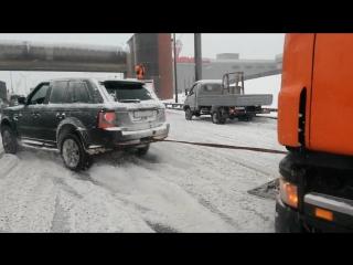 Range Rover Sport и фура