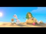 Снеговик Олаф и его песня про лето из мультфильма Холодное сердце (HD качество)
