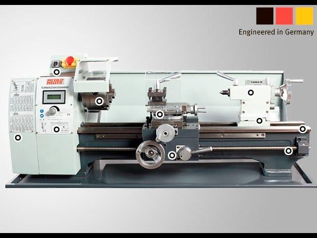 Настольный токарный станок по металлу Metal Master MML 2550V 250x550V