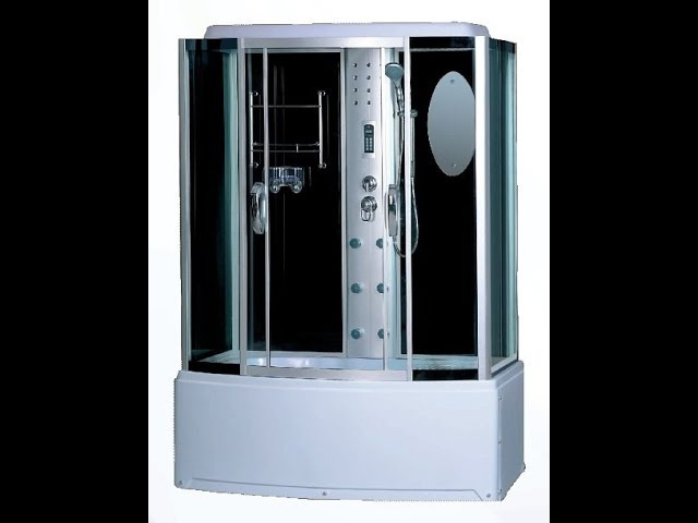 Установка большой душ. кабинки FARO DMC-420 в маленькой ванне.ЭТО ВОЗМОЖНО