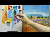 How to paint like Monet Part 3 - Step-by-step Impressionist landscape painting