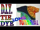 Sun and Earth Tie Dye Shirt Long Tutorial #53
