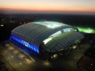 Городской стадион в Познани (INEA Stadion) с высоты птичьего полёта