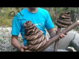 Веревка  канат из елки  wooden rope primitive technology