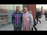 Lewis Hamilton and Michael B Jordan at Louis Vuitton Fashion Show in Paris