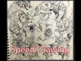 speed drawing Kim Jung Gi, Master Illustrator Two Masters Simon Lee, Master Sculptor