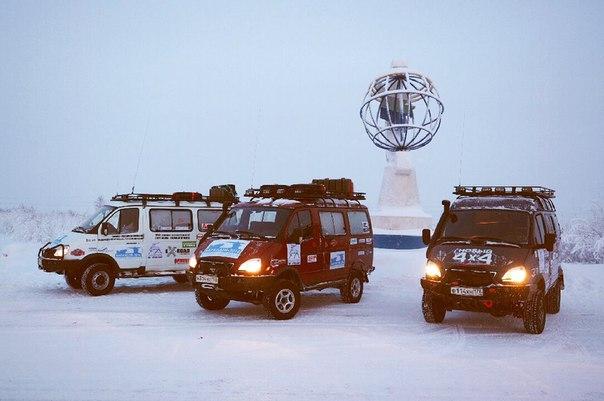 Экспедиция на внедорожниках «Соболь 4х4» отправилась к Северному Ледовитому океану 2
