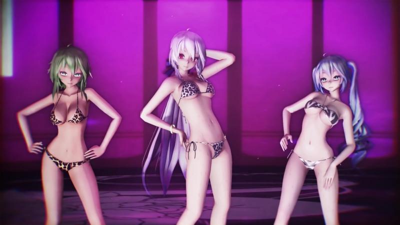 【MMD R-17】 STEP 【Bikini MIKU HAKU GUMI】