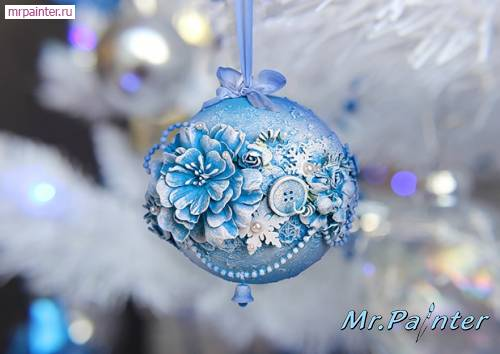 Новогодние декор шаров