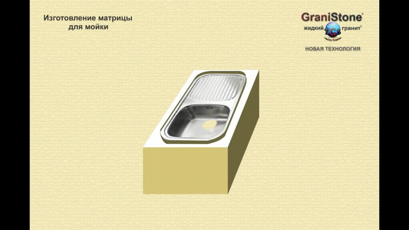 №12 Изготовление матрицы для мойки. GraniStone -- жидкий гранит. Новая технология.