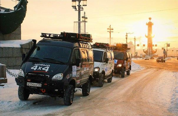 Экспедиция на внедорожниках «Соболь 4х4» отправилась к Северному Ледовитому океану 1