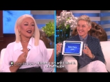 Christina Aguilera Plays Heads Up! with Ellen RUS SUB