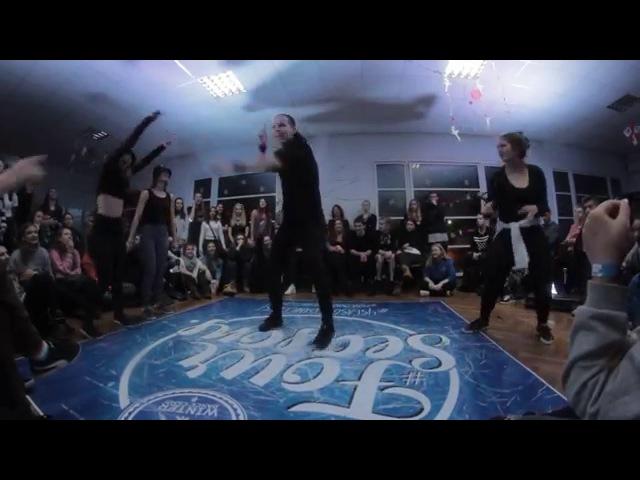 Zig Zague Bad Kris vs Dora Li / Dancehall 2X2 / 4SeasonDanceFest 9/10.01.2016