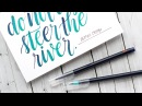 Brush Lettering with Akashiya Sai Watercolor Pens
