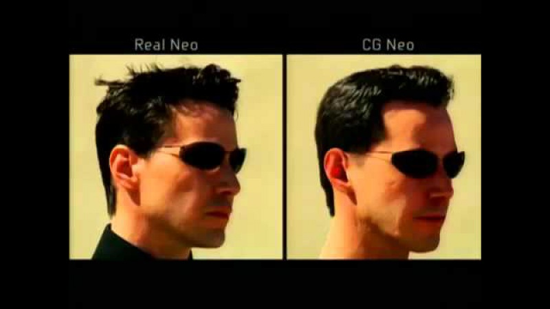 Neo and Smith CGI doubles from The Matrix Reloaded (2003)