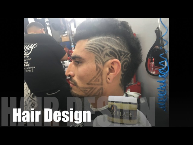 How To Do Haircut Design Step By Step One On One Barber Tutorial By @principethiago Ft EZ-blade 12