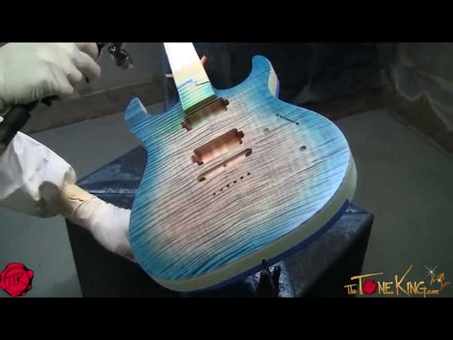 KIESEL CARVIN PAINT FINISH Carvin Custom Guitar Build - Custom Shop, San Diego, CA