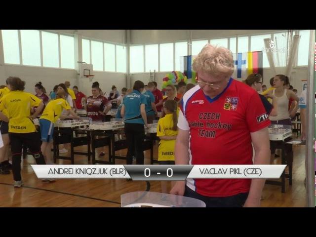 European Table Hockey Championship 2016: Andrei Kniaziuk (BLR) - Vaclav Pikl (CZE)