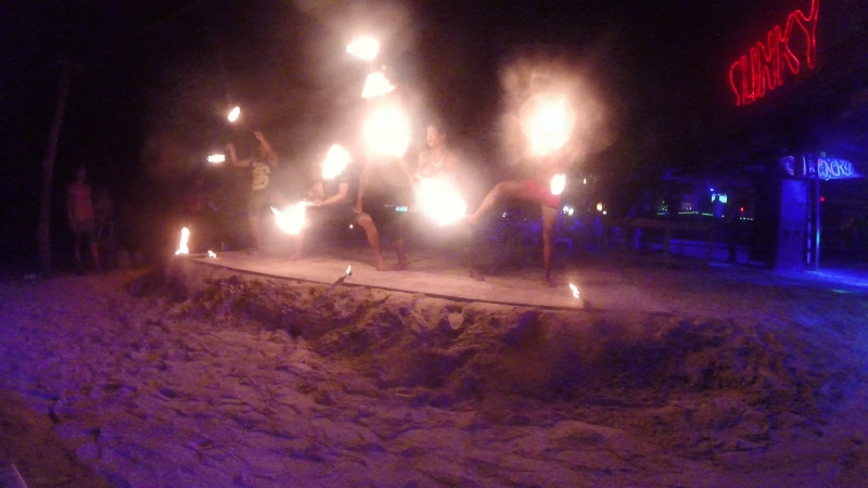 Fire show on Phi Phi island