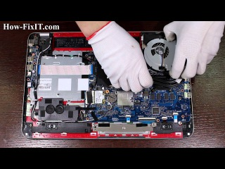HP Envy 15-j Series disassembly and fan cleaning, разборка и чистка ноутбука