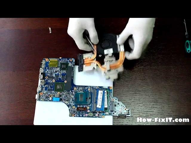 HP Envy dv6-7351sr dv6-7250er dv6-7252er dv6-7260er disassembling and cleaning, разборка и чистка