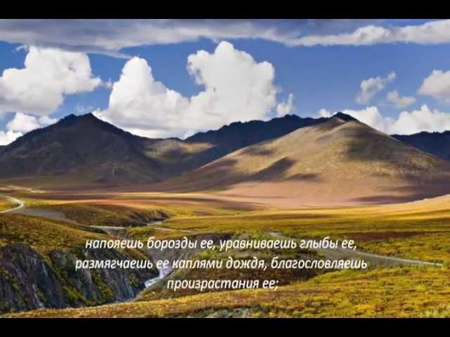 Слово Божье - Псалом 63,64 Боже,сохрани жизнь мою...