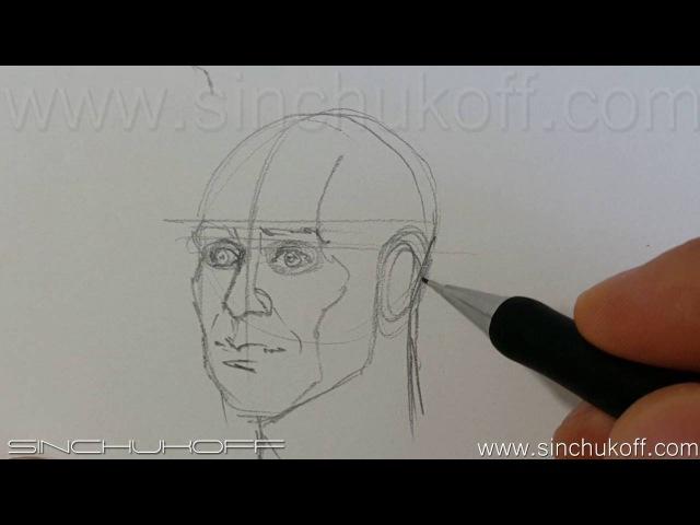 Ракурсы головы, рисуем голову