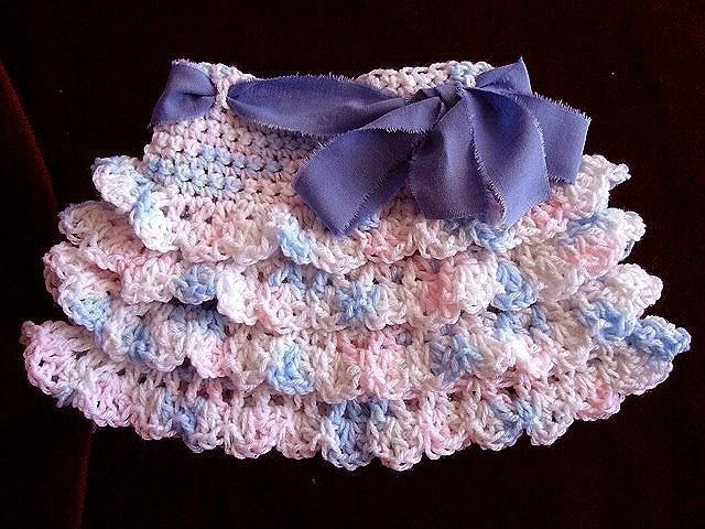 Crochet RUFFLED SKIRT how to diy make it any size baby to adult swing skirt shells