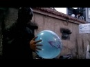 Batman Blowing up Ballons and Popping Balloons by Red Hood Kick Behind the Scenes