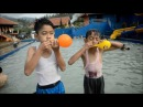 Sit Popping Balloons by Kids at Hot Springs Darajat Pools & Waterpark