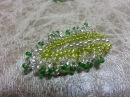 Листик из бисера Бисероплетение The leaf of beads