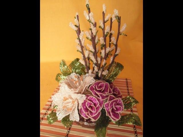 Композиция цветов Вербное Воскресенье Урок № 3