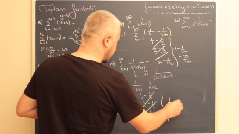 Toplam Çarpım Sembolü Videosu ve Ders Notu