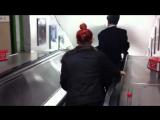 ORIGINAL Drunk Japanese businessman escalator fail