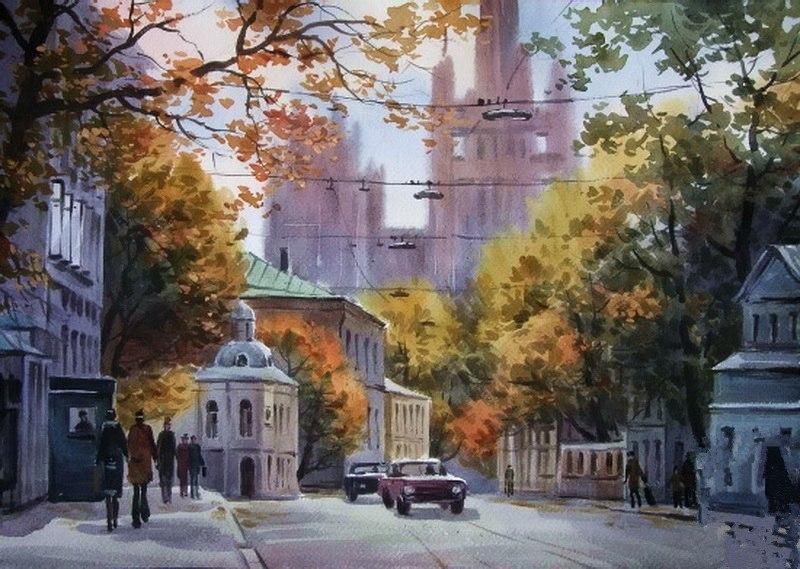 Жители Бутырского района нарисуют виды Москвы