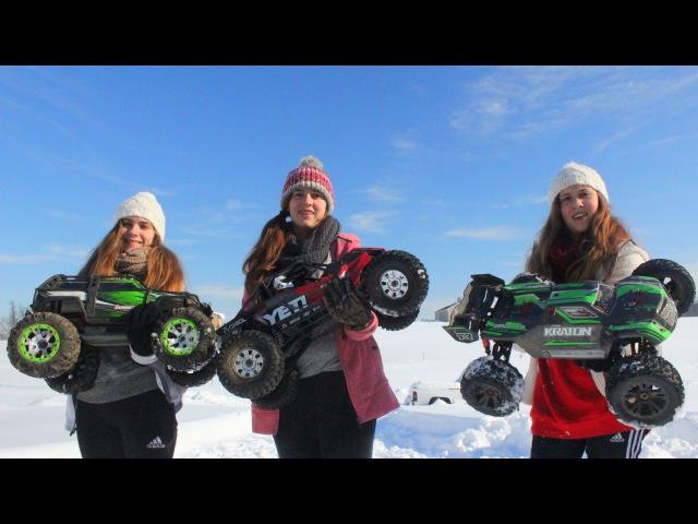 3 Girls 1 Dad = RC Snow Fun!!