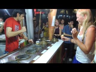 Turkish icecream in Singapore (Clarke Quay)
