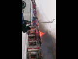 пожар в Саракташе 22.02.2016г.