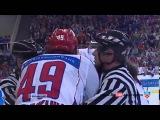 Драка Хоккей  Сборные России и Финляндии! Артюхин кладет 5 ку Финов