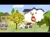 Потерянные яблочки. Развивающий мультфильм. Машинка потеряла яблочки