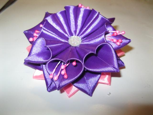 Канзаши, Атласная лента, Festive bow-knot