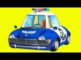 Akıllı arabalar - Polis arabası ve Yarış arabası - Eğitici çizgi film. Türkçe İzle