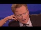 Эванджелин Лилли и мочка уха Конана О'Брайена (Late Night with Conan O'Brien)