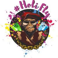 Логотип Фестивали Красок Холи ( HoliFly) в Твоем Городе