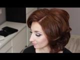 Локоны на Короткие и Средние Волосы Кудри Свадебная Укладка