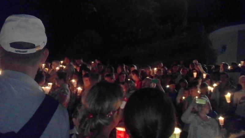 Похід зі свічками до чудотворного місця 16.07.2016